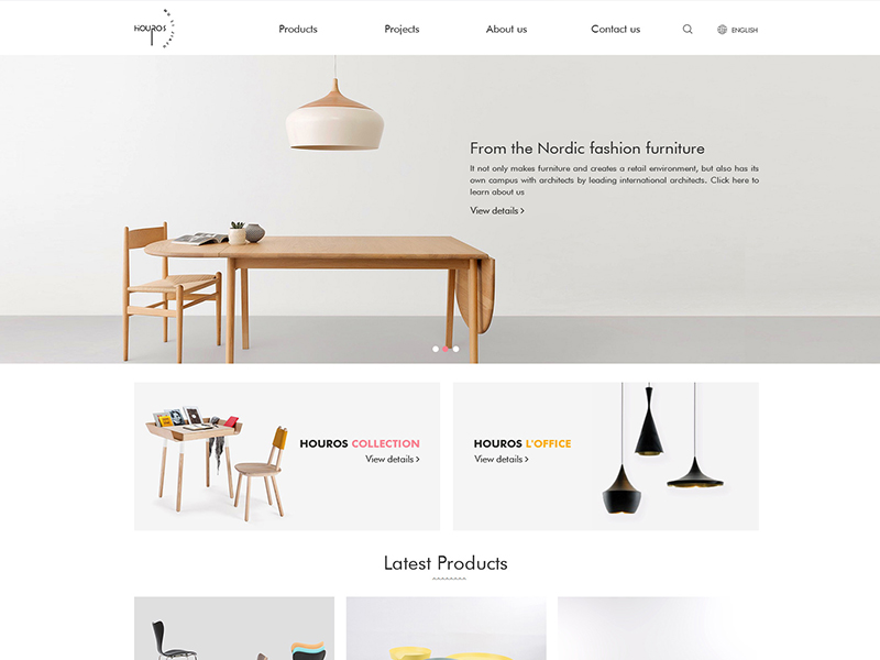 HOUROS FURNITURE CO..LTD WEB DESIGN